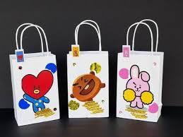 <b>BT21 BTS</b> K-POP 8 members 3D treat favor birthday bags 12pcs ...