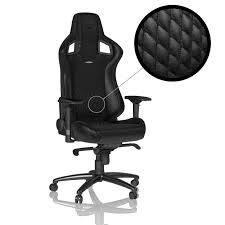 noblechairs EPIC <b>Real Leather</b> Gaming <b>Chair</b> - <b>Black</b>