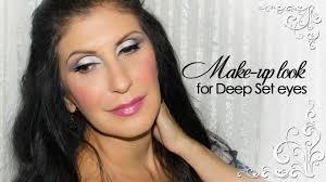 make up look for deep set eyes