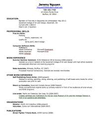 How To Write A Resume For First Job  cover letter resume samples     happytom co