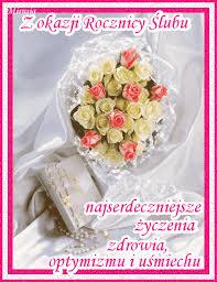 Znalezione obrazy dla zapytania rocznica ślubu