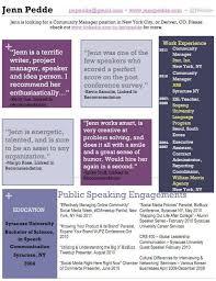 while jenn pedde was revamping her full multi page resume she used this social media marketing resume sample