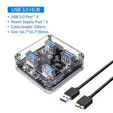 <b>ORICO Transparent Series USB</b> HUB Multi 4 7 Port High Speed ...