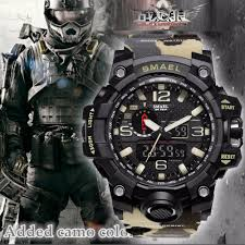 <b>Top Luxury Brand SMAEL</b> Men Sports Watches Men's Camouflage ...
