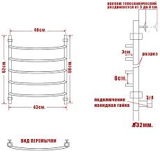 <b>Полотенцесушитель электрический Ника</b> Arc ЛД 60/40-5 купить в ...
