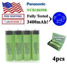 <b>HIXON</b> 4 PCS Genuine 18650 Battery Panasonic NCR18650B Li ...