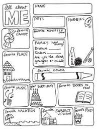 ALL ABOUT ME FREEBIE    this is great for FIRST week of school   so Pinterest