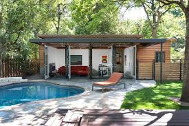 Guest House Home Design Ideas  Pictures  Remodel and DecorModern  form pool house idea in Austin
