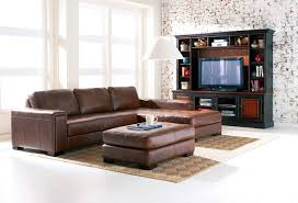 contemporary tv stand cabinet furniture also white brick living room wall idea feat elegant brown leather brick living room furniture