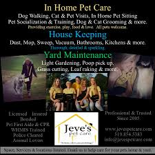 jeve s pet care home pets are a life commitment please provide a healthy safe and balanced environment for your loved ones you are their main source of nutrition exercise