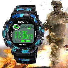 <b>HONHX</b> Luxury Brand <b>Mens Sports</b> Watches Dive 50m Digital LED ...