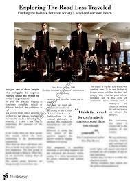 dead poets society essay conformity   essayfeature article on dead poet  s society year  hsc english