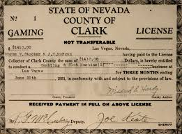 「1931, nevada state authorized gambling」の画像検索結果