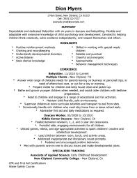 best babysitter resume example livecareer create my resume