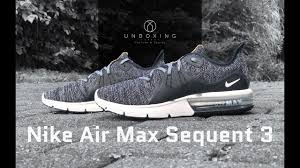 <b>Nike Air Max Sequent</b> 3 'Black/White-dark grey' | UNBOXING & ON ...