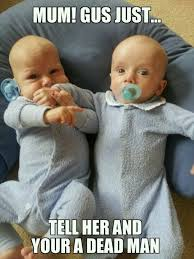Funny twin meme | Because it makes me laugh...a lot! | Pinterest ... via Relatably.com