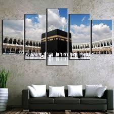 <b>5</b> Pcs <b>HD Print Large</b> Islamic Kaaba Mecca Picture Modern ...