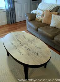 french typography coffee table makeover after artsychicksrulecom milkpaint chalkpaint chalk paint coffee table