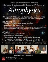 osu astronomy department summer undergraduate research program previous participants