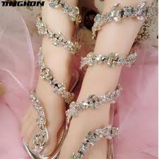 <b>TINGHON women sandals</b> Crystal Around <b>Women</b> Gladiator <b>Sandal</b> ...