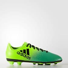 <b>adidas</b> Футбольные бутсы (мяг.покр.) X 16.4 FXG - зеленый ...