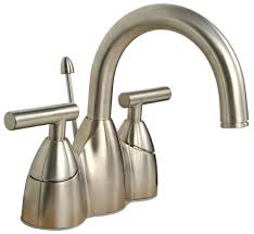 satin nickel bathroom faucets: price pfister contempra brushed nickel centerset bathroom faucet