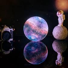 Dropship <b>New Arrival</b> 3D Print Star Moon Lamp Colorful Change ...