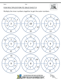 Fun Multiplication Worksheets to 10x10fun multiplication worksheet to 10x10 8