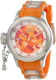 Invicta Women s 11362 Russian Diver <b>Two Tone</b> Orange ...