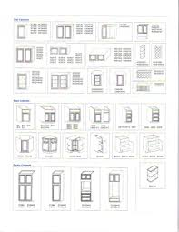 kitchen cabinet sizes chart home decorating