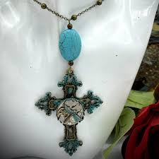 <b>Steampunk</b> Cross Necklace | Elegant cross with <b>vintage</b> watch ...