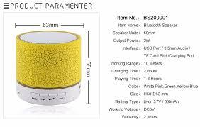 <b>LED Portable Mini</b> Bluetooth Speaker <b>Wireless</b> Hands Free ...