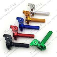 22mm Handlebar <b>CNC Aluminum</b> Throttle Grip Quick <b>Twister</b> Settle ...