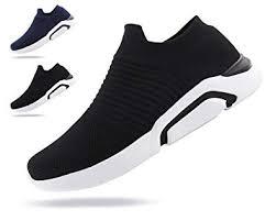 Jabasic <b>Mens</b> Ultra-<b>Sock</b> Knit Running <b>Sneaker Breathable</b> Slip