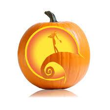 <b>Nightmare</b> Before <b>Christmas</b> Pumpkin Carving <b>Stencil</b>