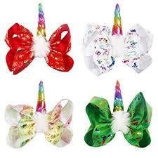 Oaoleer 8 inch Unicorn Cheer Bows for Girls Dogs ... - Amazon.com