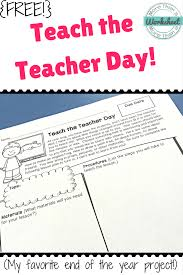 end of the year teach the teacher day more than a worksheet it was so fun because you really get a glimpse into each student s personality i had one girl bring in a karaoke machine and teach us how to sing a song