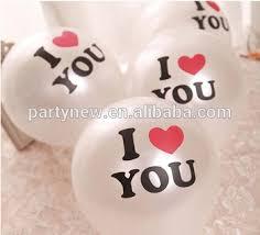 """Белый Цвет 12 """"с Изображением <b>Воздушных Шаров</b>,I <b>Love</b> You ..."""