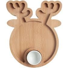 <b>Блюдо Dear Deer</b> 38856. Цвет бежевый.