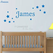 <b>Personalized Name</b> Star Wall Stickers for Baby Bedroom <b>Wall Art</b> ...