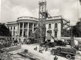 Whitehouse History Collecting Stamps   Coney    s Stamps   Keystone    Work on the South Portico  ca    Image
