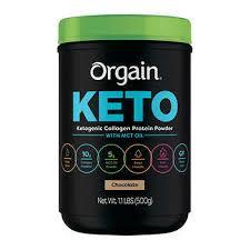 Orgain <b>Keto Collagen Protein</b> Chocolate, 1.1 lbs
