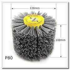 <b>1 pcs 120</b>*100*19mm Nylon Abrasive Wire DuPont Drum Polishing ...