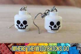 <b>LEGO</b>® <b>skeleton skull</b> minifigure <b>head</b> earrings Handmade with   Etsy