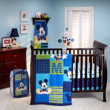 mickey mouse m is for mickey 4 piece crib bedding set baby mickey crib set design