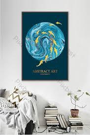 <b>Modern minimalist</b> style decorative painting creative blue stone ...