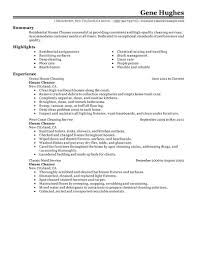 example of resume for cleaning job samplebusinessresume com commercial cleaning resume residential house cleaner maintenance janitorial classic