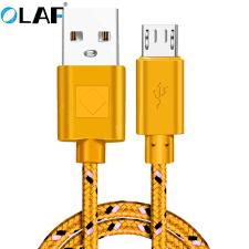 <b>OLAF Micro USB</b> Nylon <b>Data</b> Cable Fast Charging USB Charger ...