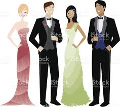 Image result for formal wear male and female cartoon