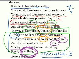 shakespeare macbeth 20 act 5 scene 5 sound and fury